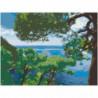 Сосны на берегу моря Раскраска картина по номерам на холсте