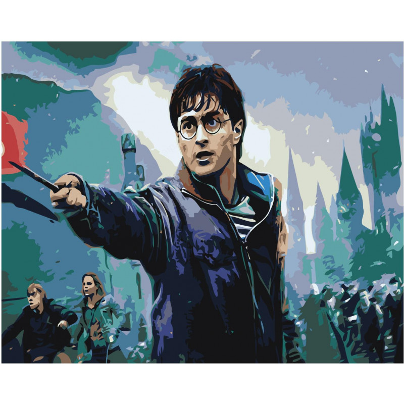 Гарри Поттер и Дары Смерти 100х125 Раскраска картина по ...