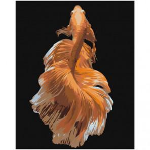 Золотая рыбка 100х125 Раскраска картина по номерам на холсте
