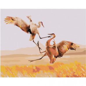 Танец журавлей 100х125 Раскраска картина по номерам на холсте