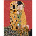 Золотой поцелуй, Густав Климт 80х100 Раскраска картина по номерам на холсте