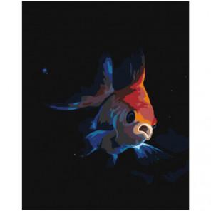 Золотая рыбка 80х100 Раскраска картина по номерам на холсте