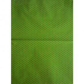 Красные звездочки на зеленом Бумага для декопатча Decopatch
