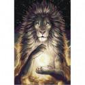 Лев со знаком зодиака Раскраска картина по номерам на холсте