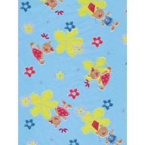 Медвежата/цветы на голубом Бумага для декопатча Decopatch