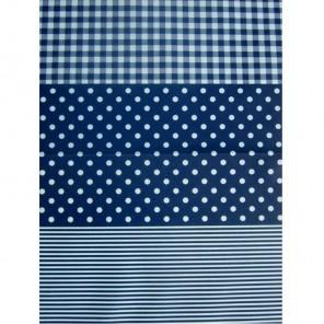 Полоска/горох/клетка синие Бумага для декопатча Decopatch