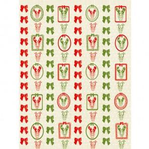 Красно-зеленые бантики Бумага для декопатча Decopatch