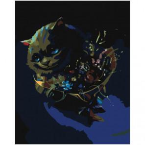 Улыбка Чеширского кота Раскраска картина по номерам на холсте