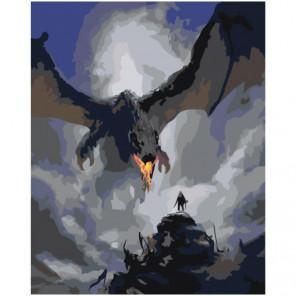 Дракон Раскраска картина по номерам на холсте