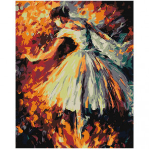 Балерина 80х100 Раскраска картина по номерам на холсте