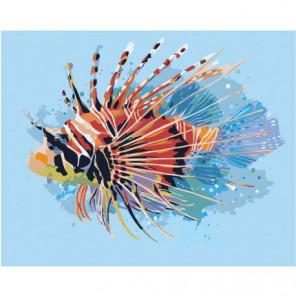 Экзотическая рыбка Раскраска картина по номерам на холсте