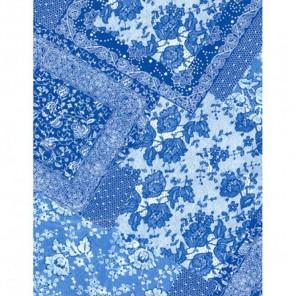 Кружевные лоскуты сине-белые Бумага для декопатча Decopatch