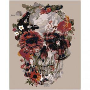 Цветочный череп 100х125 Раскраска картина по номерам на холсте