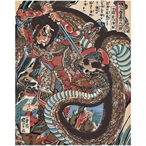 Японская живопись 80х100 Раскраска картина по номерам на холсте