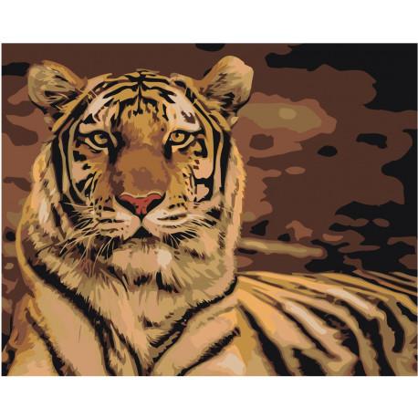 Тигр Раскраска картина по номерам на холсте Z-AB302 купить ...
