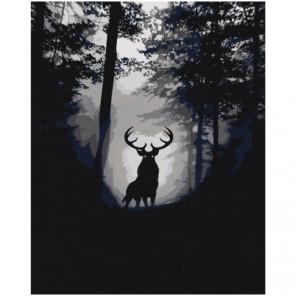 Лесной олень 80х100 Раскраска картина по номерам на холсте