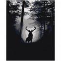 Лесной олень Раскраска картина по номерам на холсте