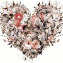 Сердце из черепов Раскраска картина по номерам на холсте