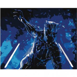 Чёрная Пантера 100х125 Раскраска картина по номерам на холсте