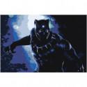 Black Panther Раскраска картина по номерам на холсте