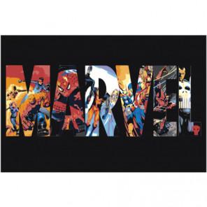 Marvel Раскраска картина по номерам на холсте