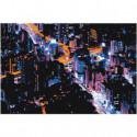 Ночной город Раскраска картина по номерам на холсте