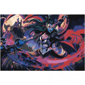 Волшебница 100х150 Раскраска картина по номерам на холсте