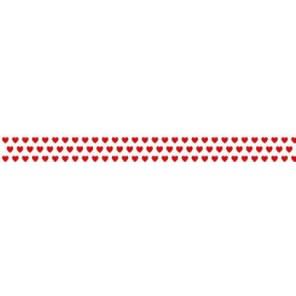 Мелкие красные сердечки Скотч декоративный для скрапбукинга Heyda