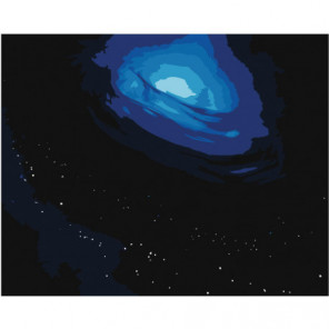 Космос. Черная дыра Раскраска картина по номерам на холсте