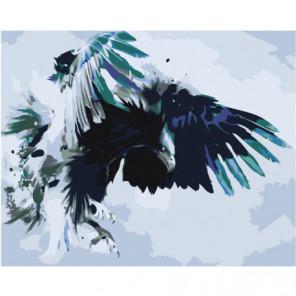 Атакующий орел 80х100 Раскраска картина по номерам на холсте