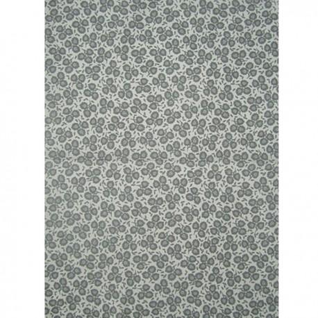 Серые листочки на белом Бумага для декопатча Decopatch