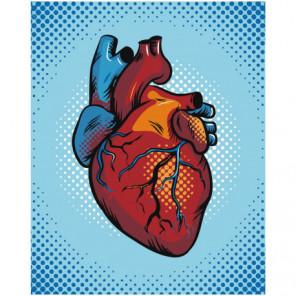 Сердце клип арт 100х125 Раскраска картина по номерам на холсте