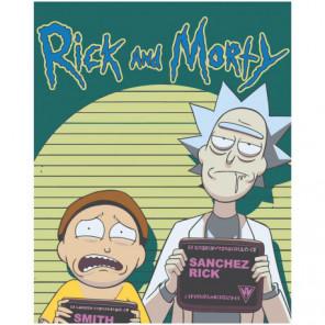 Комикс Рик и Морти Раскраска картина по номерам на холсте
