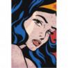 Девушка поп-арт 100х150 Раскраска картина по номерам на холсте