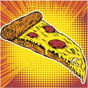 Пицца ассорти 100х100 Раскраска картина по номерам на холсте