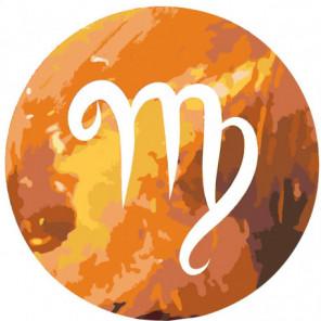 Знак Зодиака Дева Раскраска картина по номерам на холсте