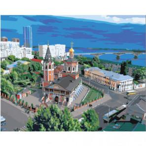 Троицкий Собор, Саратов 100х125 Раскраска картина по номерам на холсте