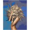 Девушка кактус 100х125 Раскраска картина по номерам на холсте
