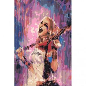 Девушка с мечом и пистолетом 100х150 Раскраска картина по номерам на холсте