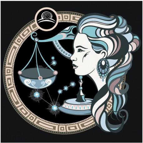Знак зодиака Весы и девушка Раскраска картина по номерам ...