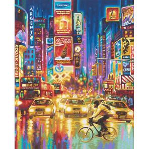 Нью-Йорк - ночной Таймс-Сквер Раскраска картина по номерам Schipper (Германия) 9130815