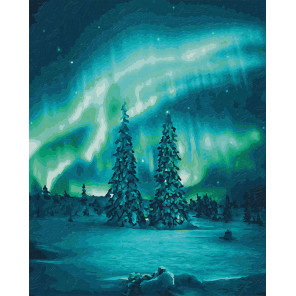 Северное сияние Раскраска картина по номерам Schipper (Германия) 9130813