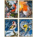 Птицы зимой Раскраски по номерам акриловыми красками Schipper (Германия)
