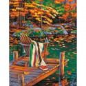 Золотой пруд Раскраска (картина) по номерам акриловыми красками Dimensions
