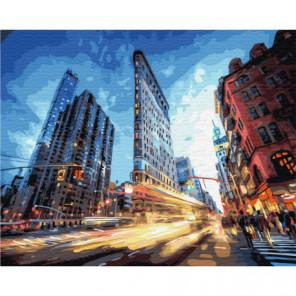 Мой Нью-Йорк Раскраска картина по номерам на холсте