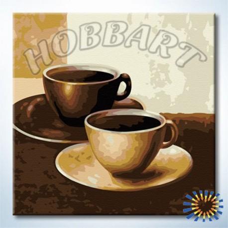 Кофе Раскраска по номерам на холсте Hobbart HB2020001 ...