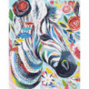 Зебра в абстракции Раскраска картина по номерам на холсте