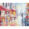 Спокойный Париж Раскраска картина по номерам на холсте