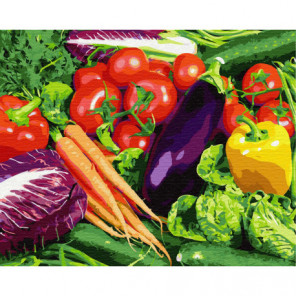 Овощной натюрморт Раскраска картина по номерам на холсте