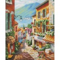 Городские ступеньки Раскраска (картина) по номерам акриловыми красками Dimensions